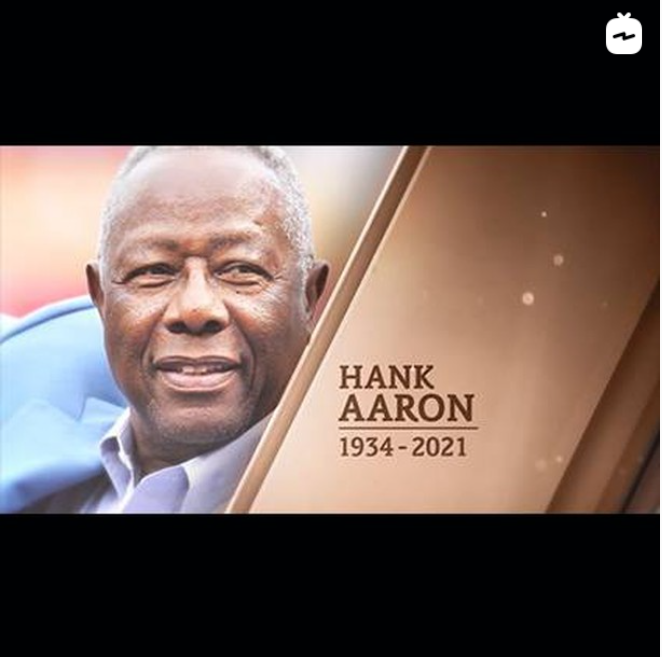 I MAY (or may not) have teared up a bit watching this video tribute on @MLBNetwork IGTV. One of the absolute greatest to ever wear the uniform or swing a bat. There will never be another Hammerin' Hank. #RIP #GoBraves #MLB