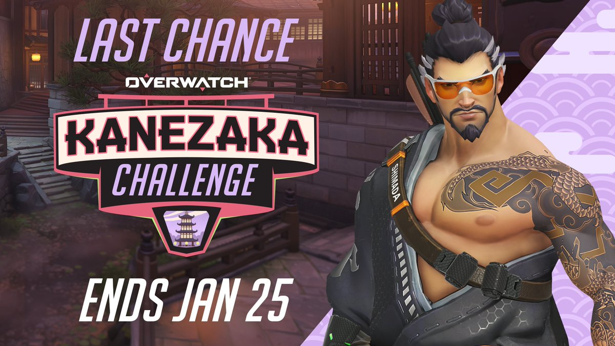 Ignore all distractions.  Zero in on Overwatch's Kanezaka Challenge to earn new rewards before the event ends on Jan 25!