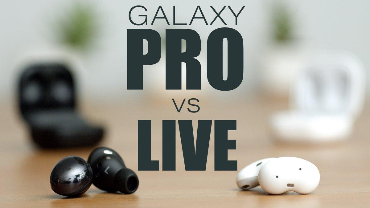 Samsung Galaxy Buds Pro vs Galaxy Buds Live - Comparison on Android (Not...   #samsung #GalaxyBudsPro #GalaxyBudsLive