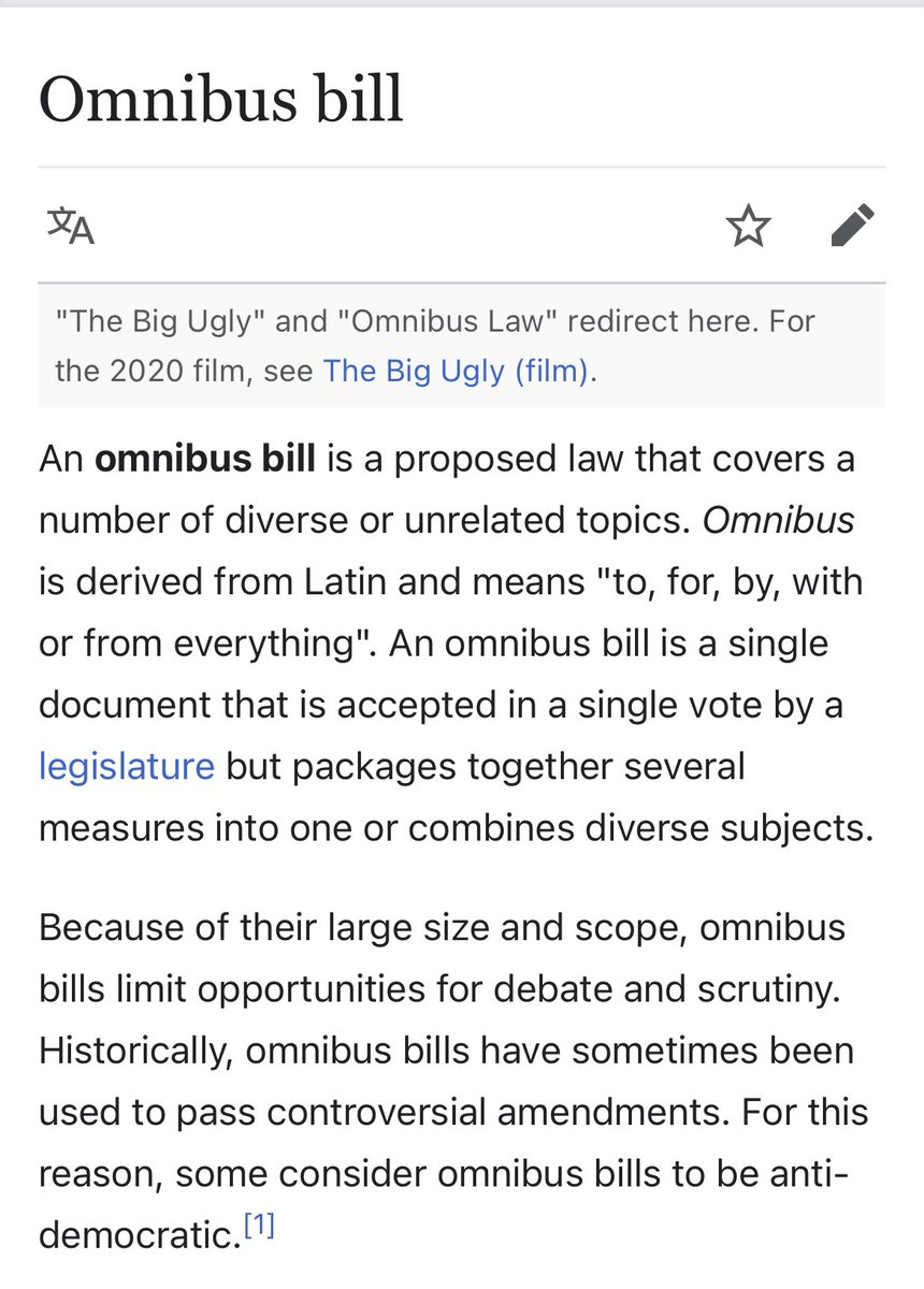 This Omnibus Bill shit is fucking scam!!!