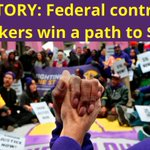 Image for the Tweet beginning: VICTORY: Federal contractors win a