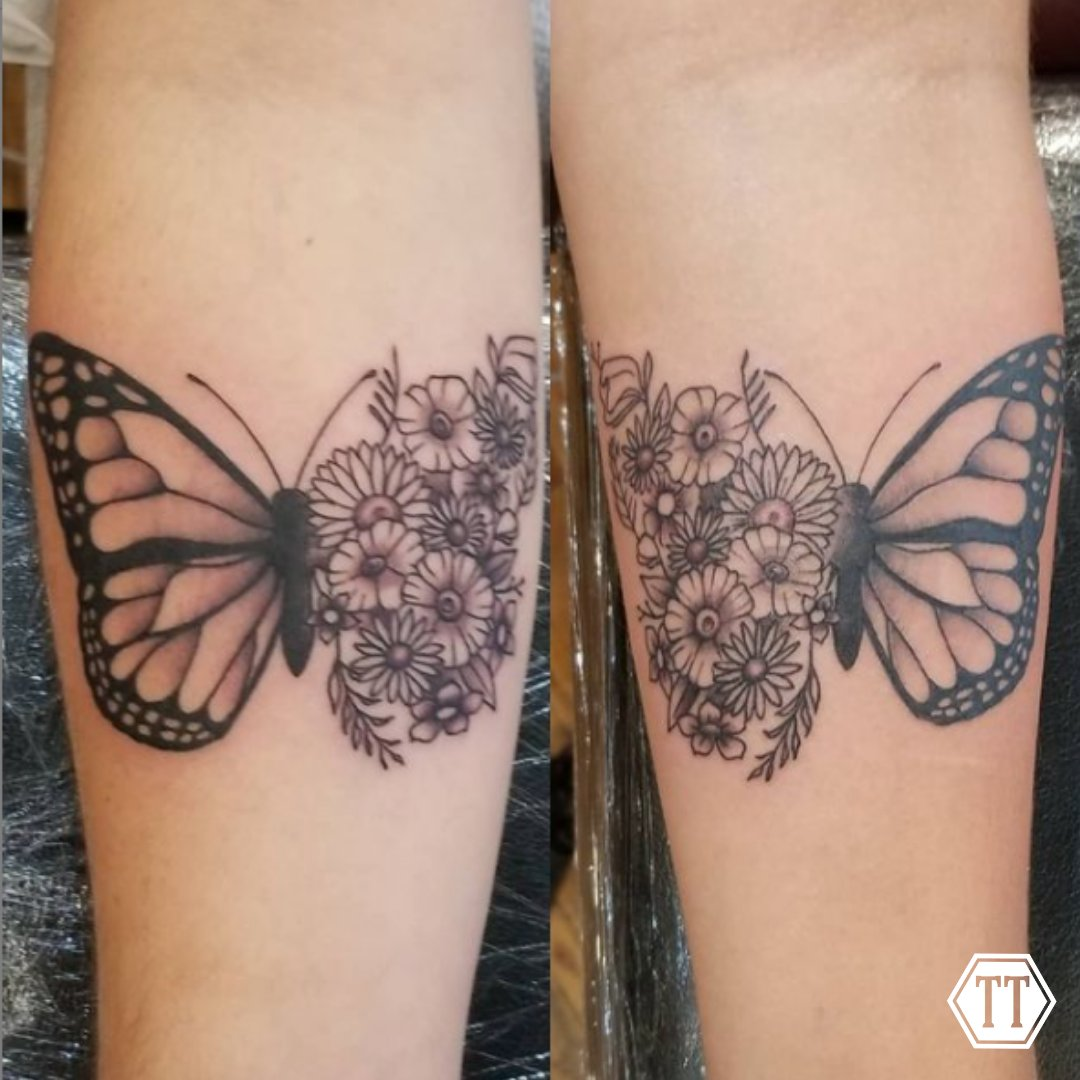 Okay, everyone!   Tag your bestie you'd get this matching tattoo with!  Follow @tattoos_by_shane on Instagram 📸 • • • • • • #tymeless #tymelesstattoo #tattoo #tattoos #tattooed #ink #inked #coloredtattoos #syracuse #bville #baldwinsville #upstateny #cny