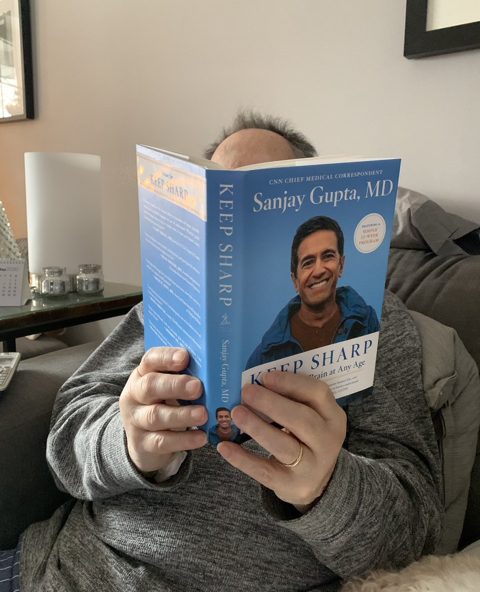This is a magical sight! My father is reading a book!!! Thank you @drsanjaygupta