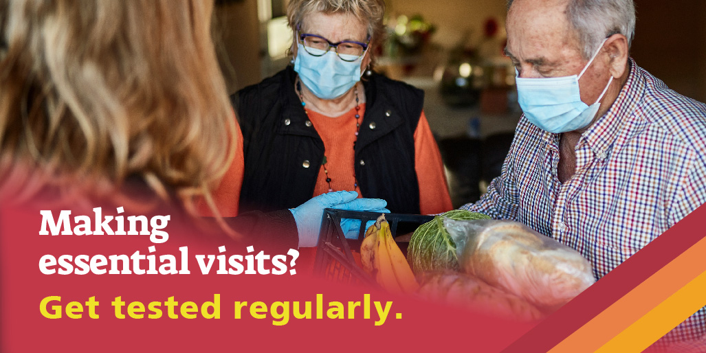 If don't have symptoms and are making essential visits to places where there are other people, get a rapid test regularly. Protect what matters most to you. Tests are available seven days a week at Tamworth College.  #doingourbit #letsgettested