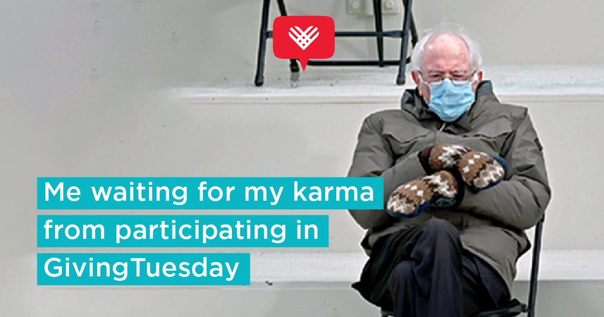 #Fundraising Ideas @GivingTuesday: 'Me waiting for my karma from participating in #GivingTuesday #BernieMemes ' , see more