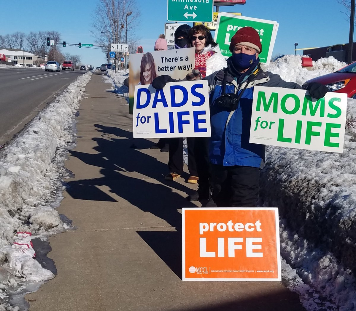 Small, cold group today praying in front of Planned Parenthood. #endAbortion #RoevWade