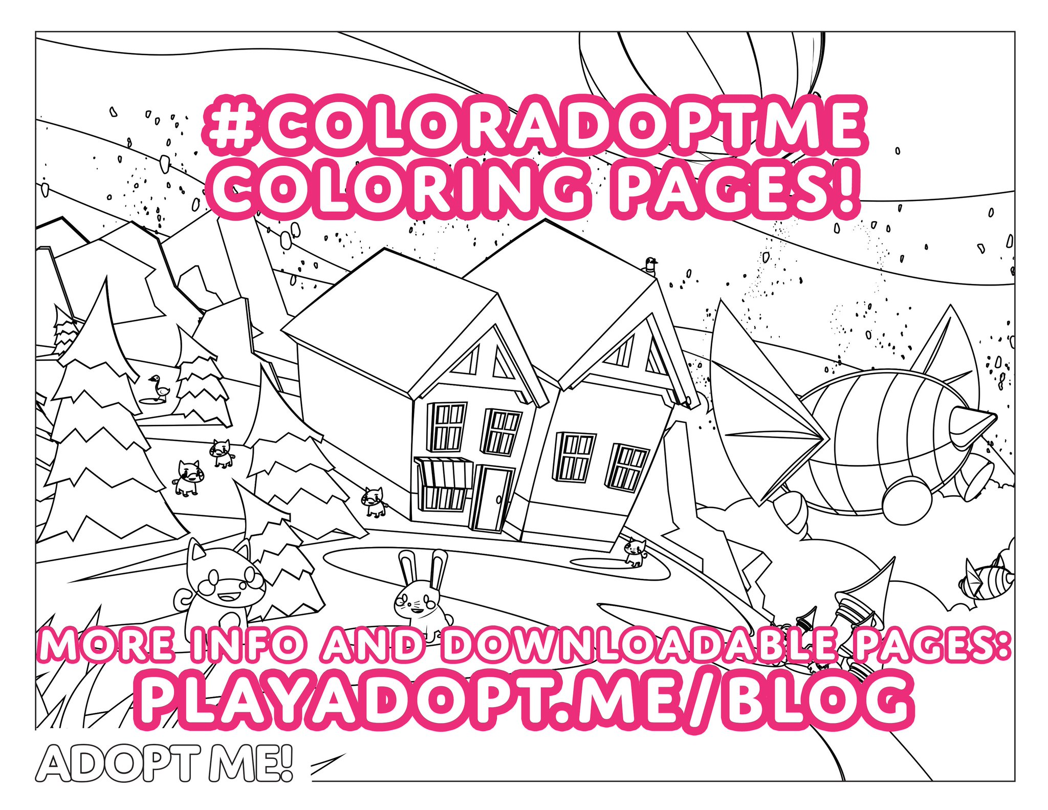 Adopt Me On Twitter Another Coloring Page Is Up On Our Blog Now Coloradoptme More Information About The Challenge And Downloadable Pages Https T Co Yr8ekgs8bn Https T Co Vbs16adg6x