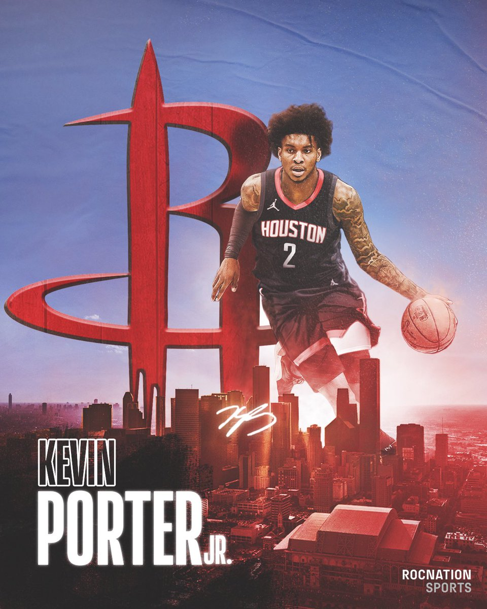 Replying to @RocNationSports: OFFICIAL: Welcome to Houston, @Kevinporterjr! 🚀🔴