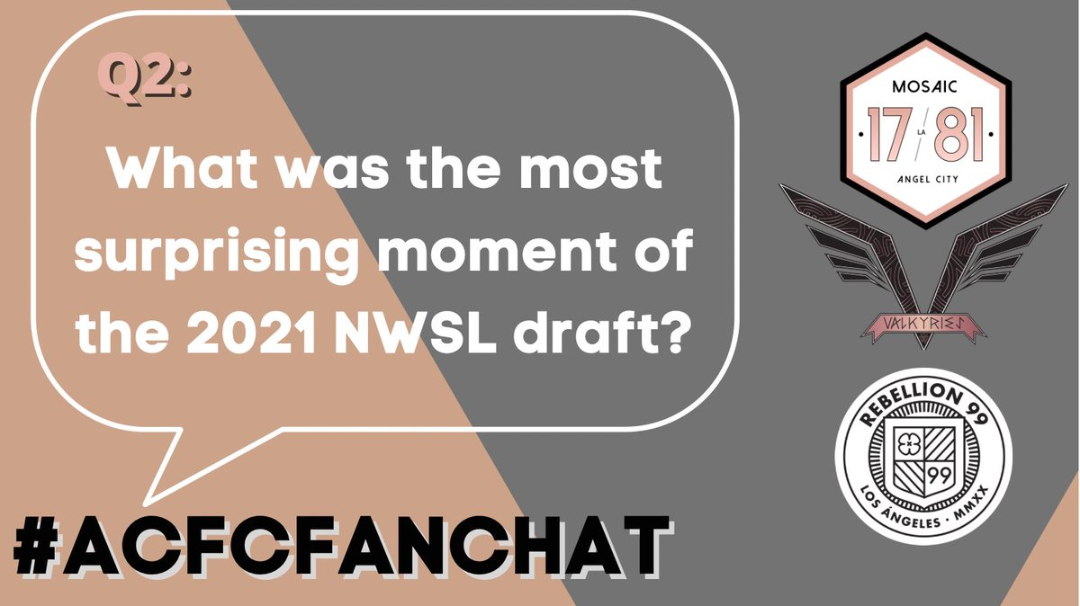 Replying to @Mosaic1781: Q2: What was the most surprising moment of the 2021 NWSL draft? #ACFCFanchat