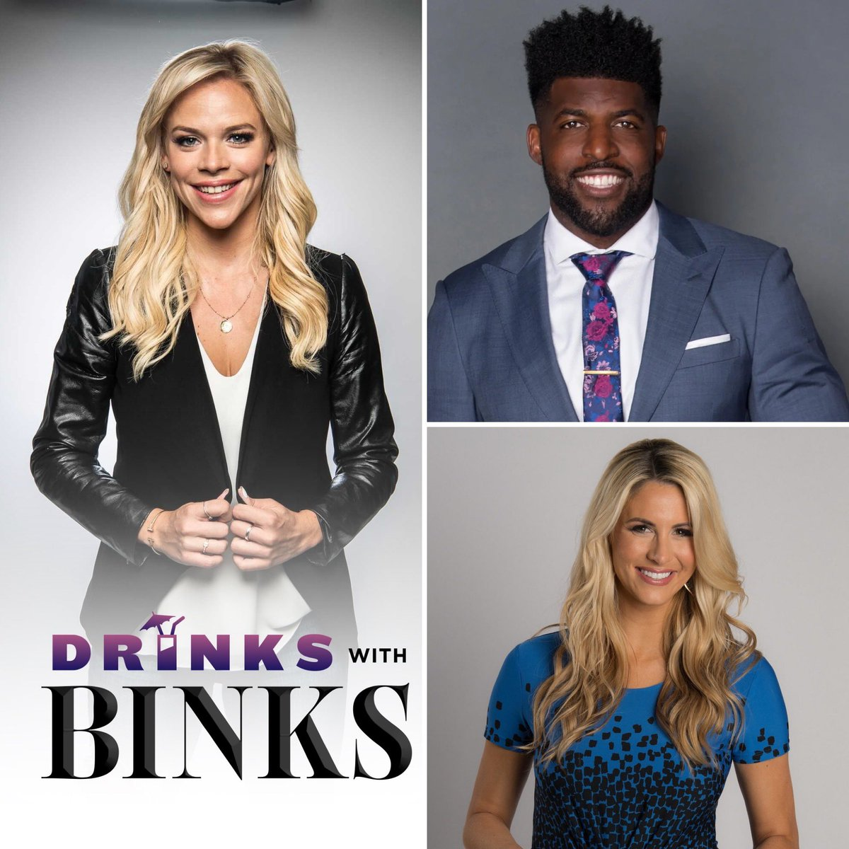 Football junkies you don't want to miss this double shot of #DrinkswithBinks 🍾 thrilled to chat with two of the biggest rising ⭐️ in broadcasting. First up - FS1's @EmmanuelAcho, followed by ESPN's @LauraRutledge - bottoms up at 8pm ET on @fuboTV @fuboSports