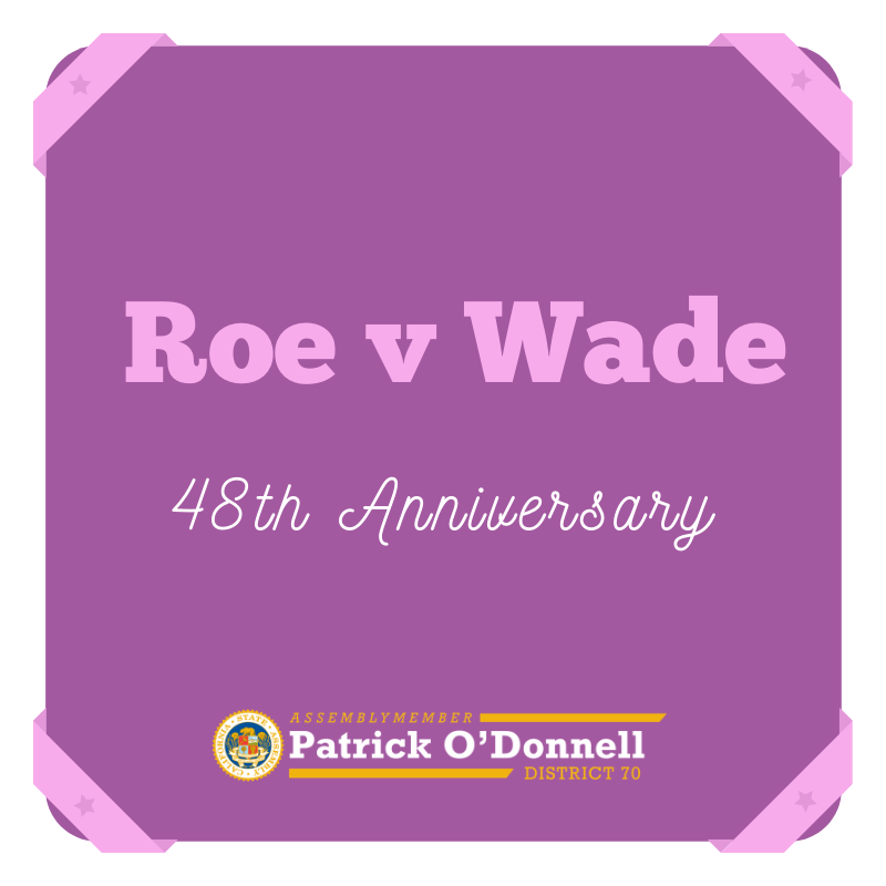 As we mark the 48th anniversary of #RoevWade, I am committed to working with organizations such as @PPActionCA to ensure women have access to the healthcare they need and reproductive freedom is a reality for everyone.