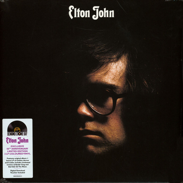 ELTON JOHN • s/t (DJM, 1970) Charts: US #4; UK #5. His breakthrough second LP. Produced by Gus Dudgeon; Recorded at Trident; Orchestra arranged & conducted by Paul Buckmaster. 2xLP Purple 180g #vinyl #RSD20 reissue with piano demos & bonus tracks. #RockSolidAlbumADay2021 022/365