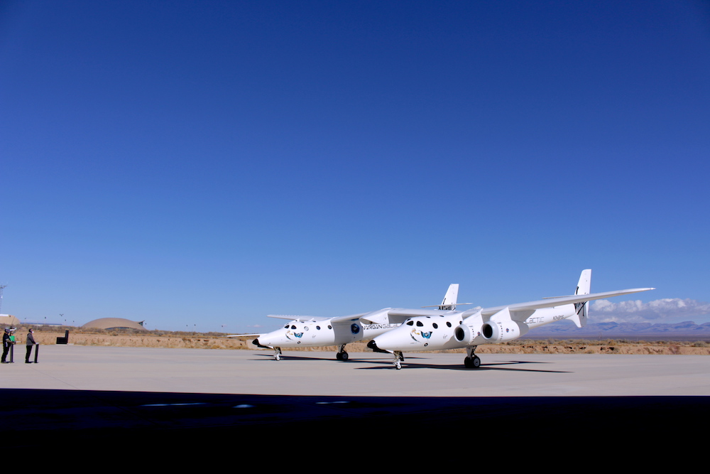 Our mothership, VMS Eve, has landed safely back at Spaceport America, New Mexico.