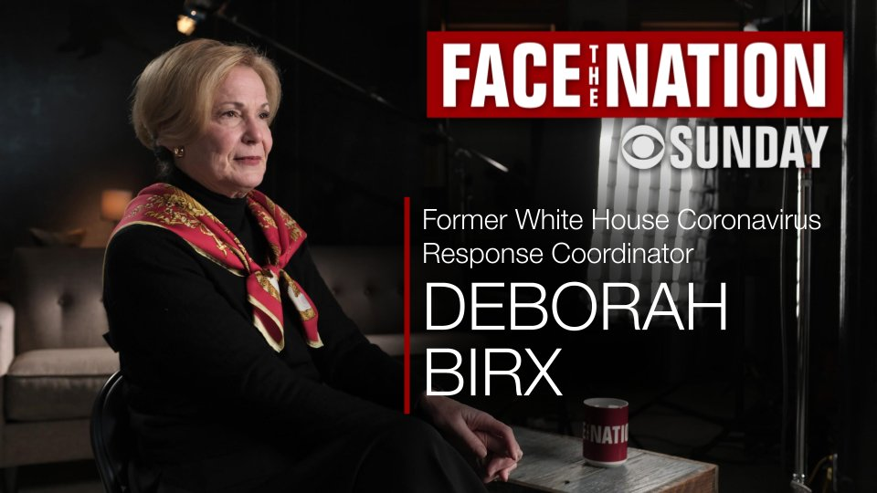 SUNDAY: In her first interview since leaving the Trump White House #COVID19 team, Dr. Deborah Birx sits down with @margbrennan for a wide-ranging interview on the pandemic and her time on the task force  📺 On TV, radio, and streaming online at @CBSNLive don't miss @FaceTheNation