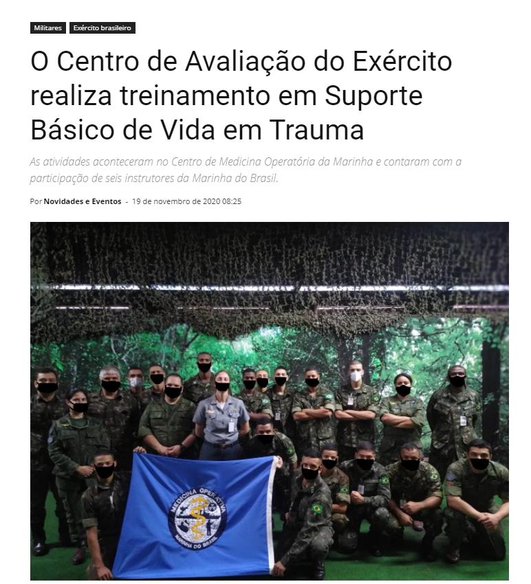 Com vocês...  O exército brasileiro.