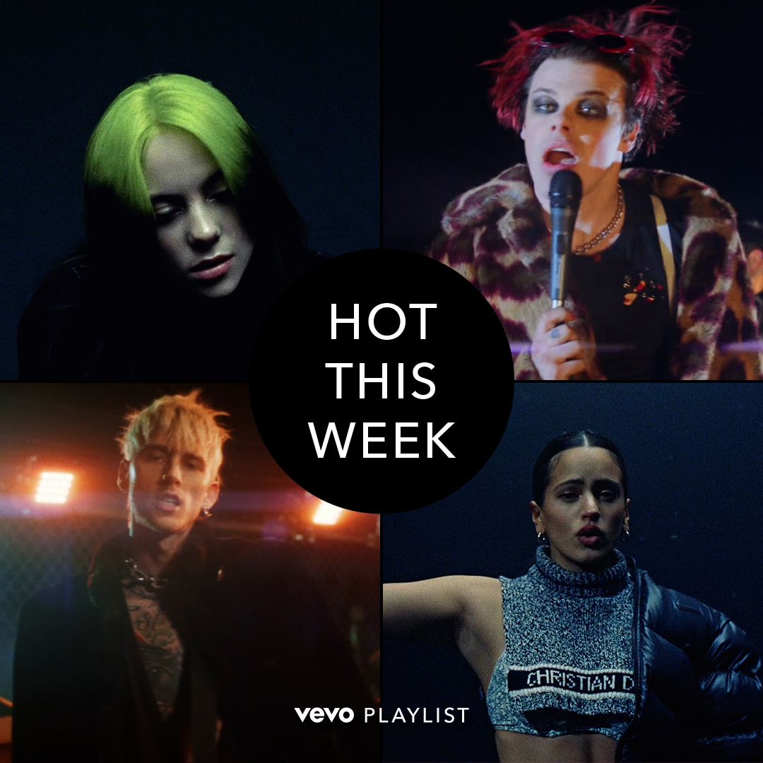 .@BillieEilish & @Rosalia @Yungblud & @MachineGunKelly. Double the stars, double the fun on Hot This Week! 🔥🔥🔥🔥 ⠀⠀⠀⠀⠀⠀⠀⠀⠀ ▶️