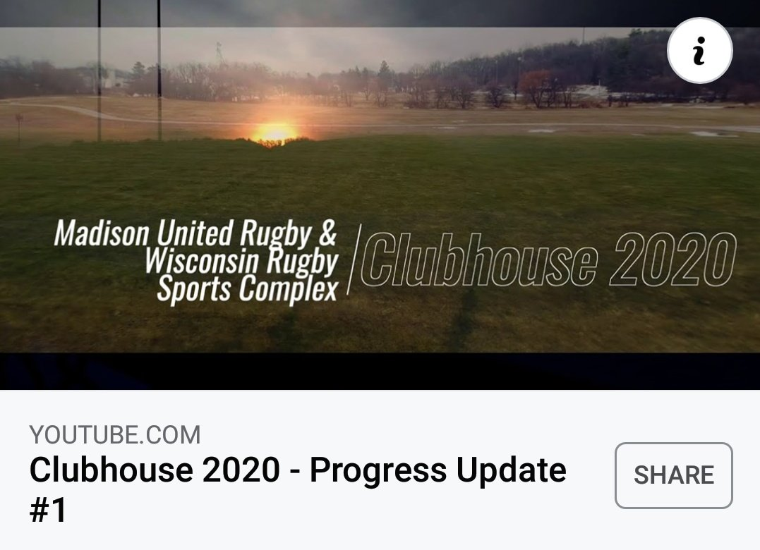 New video put out by Madison United Rugby and @WRC_Rugby on the new #rugby complex built in Cottage Grove, #Wisconsin this past year. Link below ⬇️
