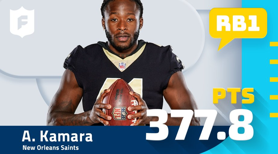 The man with the most fantasy points IN THE ENTIRE NFL this fantasy season! RB1 on the year, @A_kamara6! (via @verizon)