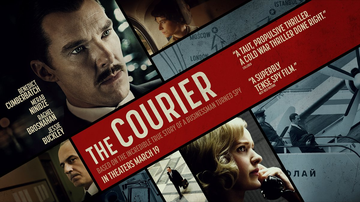 "Benedict Cumberbatch and Rachel Brosnahan star in the ""wildly entertaining"" #TheCourierMovie. Critics rave the film is ""a fun, exciting slice of real James Bond work."" Don't miss the incredible true story of a businessman turned spy in theaters March 19."