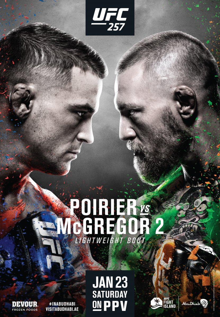Not sure if it's late tonight or early in the morning but just in case it's...  Fight Night!!! UFC 257: Poirier vs. McGregor 2 #UFC257 https://t.co/GZkBHRDx3f