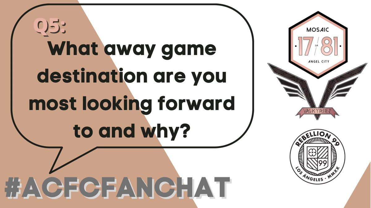 Replying to @Mosaic1781: Q5: What away game destination are you most looking forward to and why? #ACFCFanChat