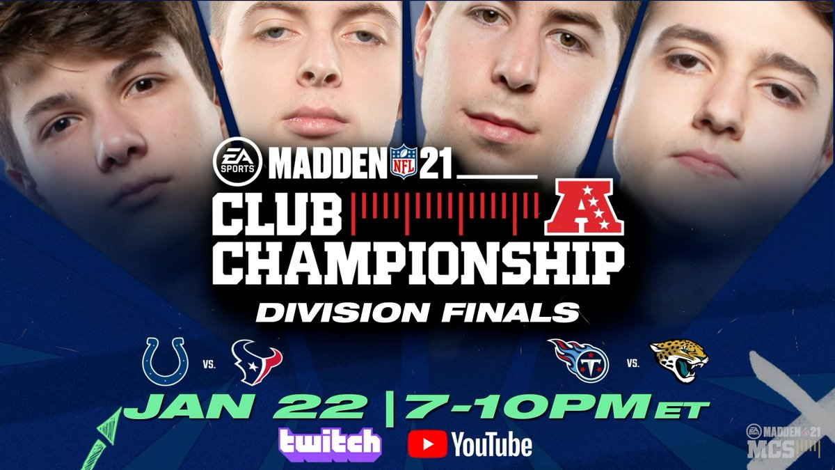 Tonight is the night!  Tune in tonight to watch the Colts take on the Texans in the Madden Club Championship!  ⏰ 7:00 PM 🖥️
