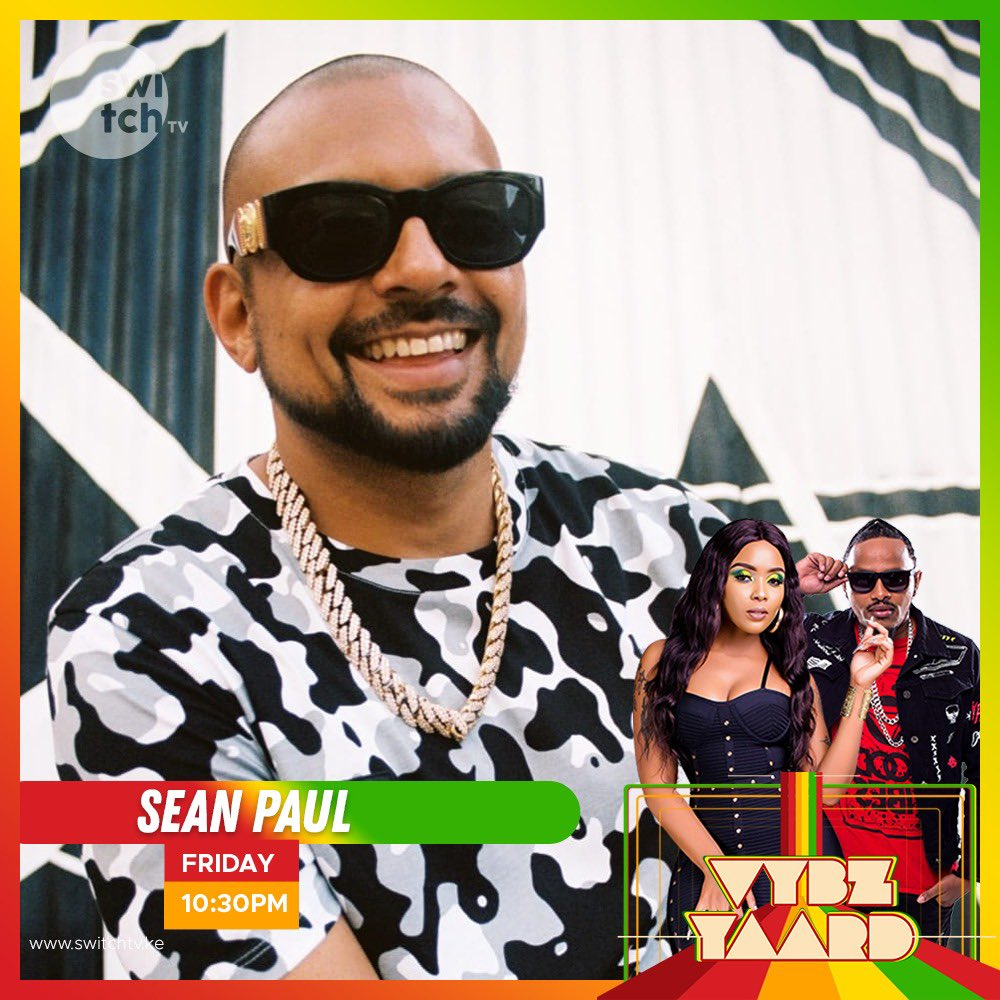 Sean Paul is at @switchtvkenya guys. Vybz Yaard is lit. Tune in right now. Let's get to know this legend. #Sweetvybz
