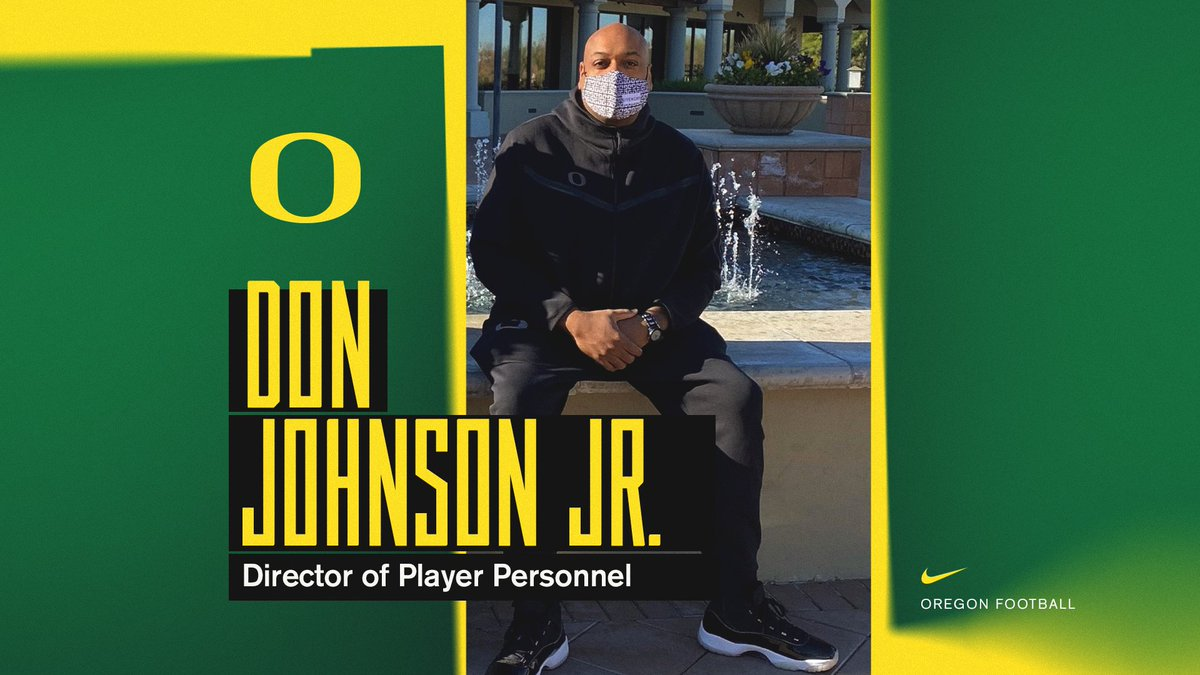 Excited to announce our new Director of Player Personnel, Don Johnson Jr. ✅  #GoDucks   @CoachDonJ
