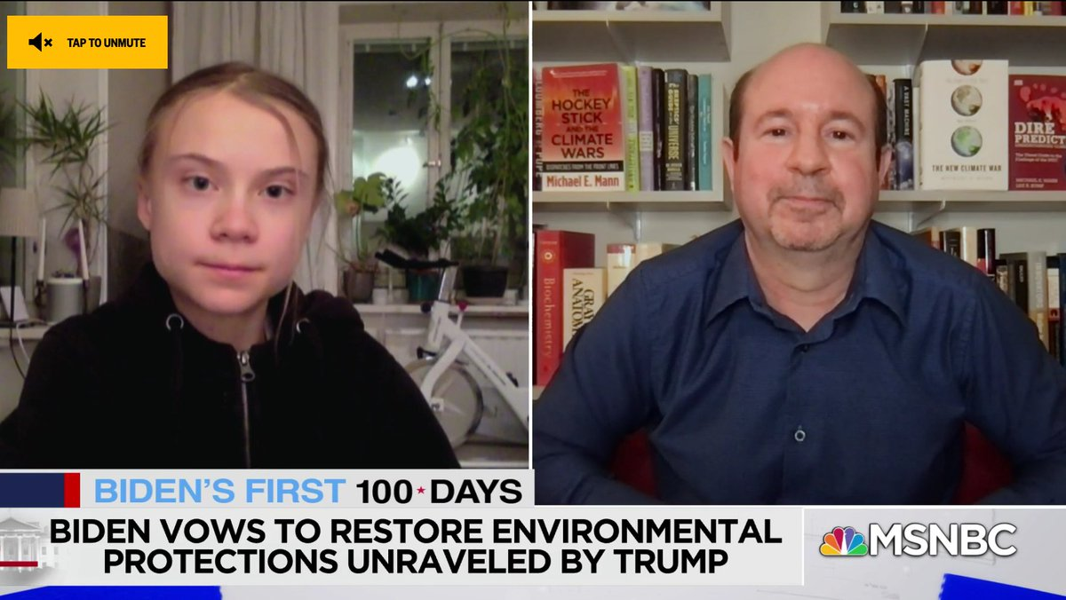 .@GretaThunberg and I talk with @KatyTurNBC about the climate crisis (and my new book, The #NewClimateWar). Full ~13 minute segment today on @MSNBC @KatyOnMSNBC: https://t.co/WhvlqNFTv8 https://t.co/NkT8D8WNzQ