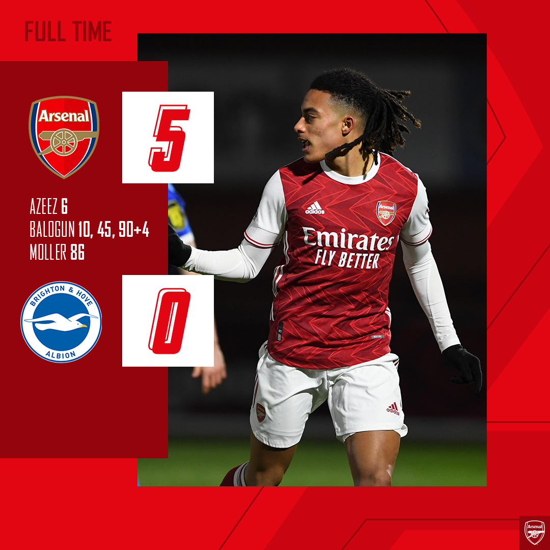 Five wins on the bounce 😍  Well played, #AFCU23 👏  #PL2 🏆
