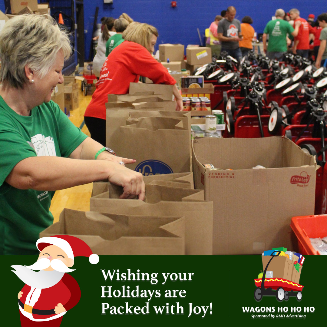 Have a #MerryChristmas ... may your season be as bright as your heart! Today, a select handful of families in dire need will receive a wagon stocked with a Christmas dinner! Continue to support us here: