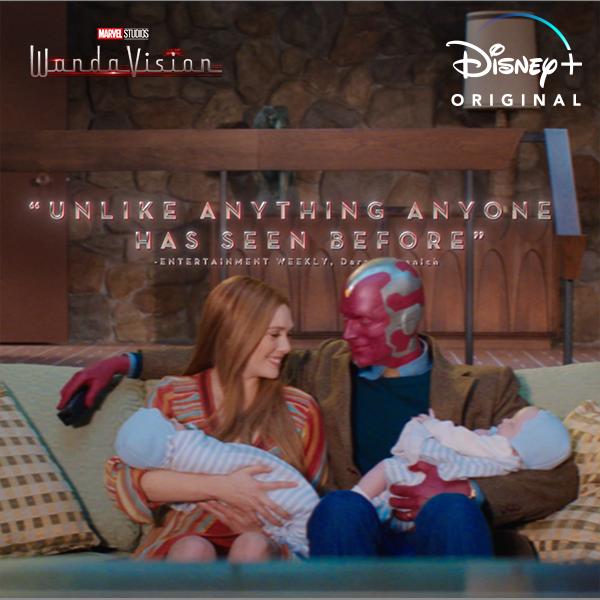 Critics are raving about Marvel Studios' #WandaVision. The Original Series is now streaming on #DisneyPlus.