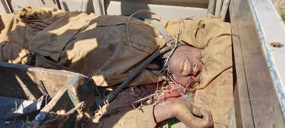"""The gallant @NigerianTroops of Operation """"TURA TAKAIBANGO"""" killed several Arm Opposition terrorists this evening in Mafa town, Borno State.   Win Win Win💪🏿  #OurSafety #SecureNorth #EndTerrorism"""