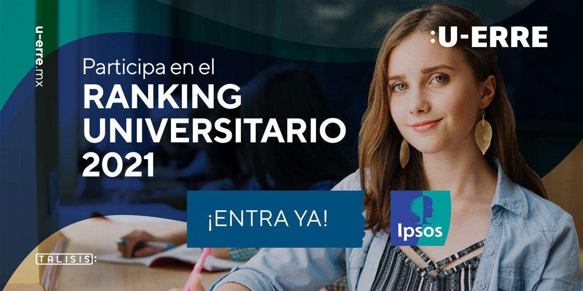 ¡En U-ERRE tu opinión es importante! Participa en el Ranking Universitario realizado por IPSOS 2021. Ingresa aquí 👉 https://t.co/wbJQUXVjIu #HechosParaCambiar https://t.co/QEwHEmDVQs