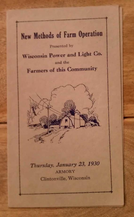 Vintage Wisconsin Power & Light Co Farm Operation  #wisconsin #vintage #farming #vintagefarming #powercompanies