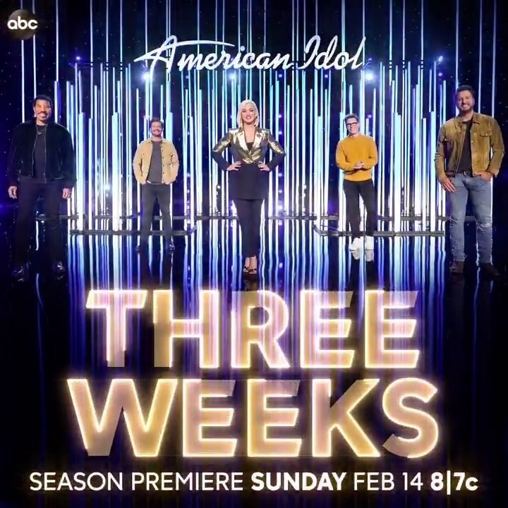 THREE. WEEKS. Get ready #AmericanIdol fam! 🤩