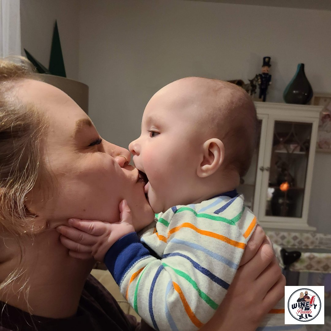 He gives kisses now.  My work here is done.  -Mal aka Mama   #baby #motherhood #momlife #mum #parenting #happy #parenthood #inspiration #podcasting #podcaster #podcasts #life #wineyparents