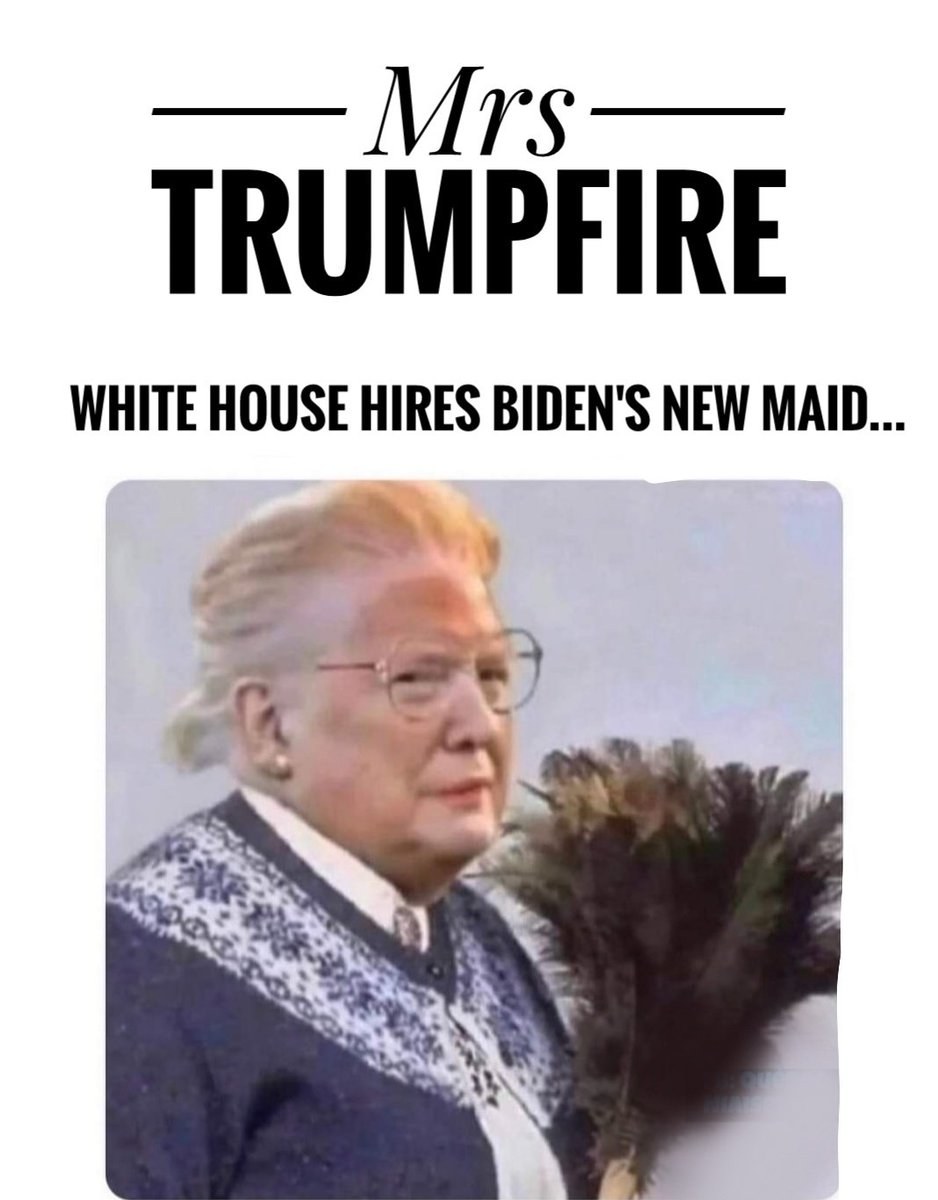 White House hires Biden's new maid and she means business! 😂 #DumpTrump #comedy #BidenAdministration #trumpfire