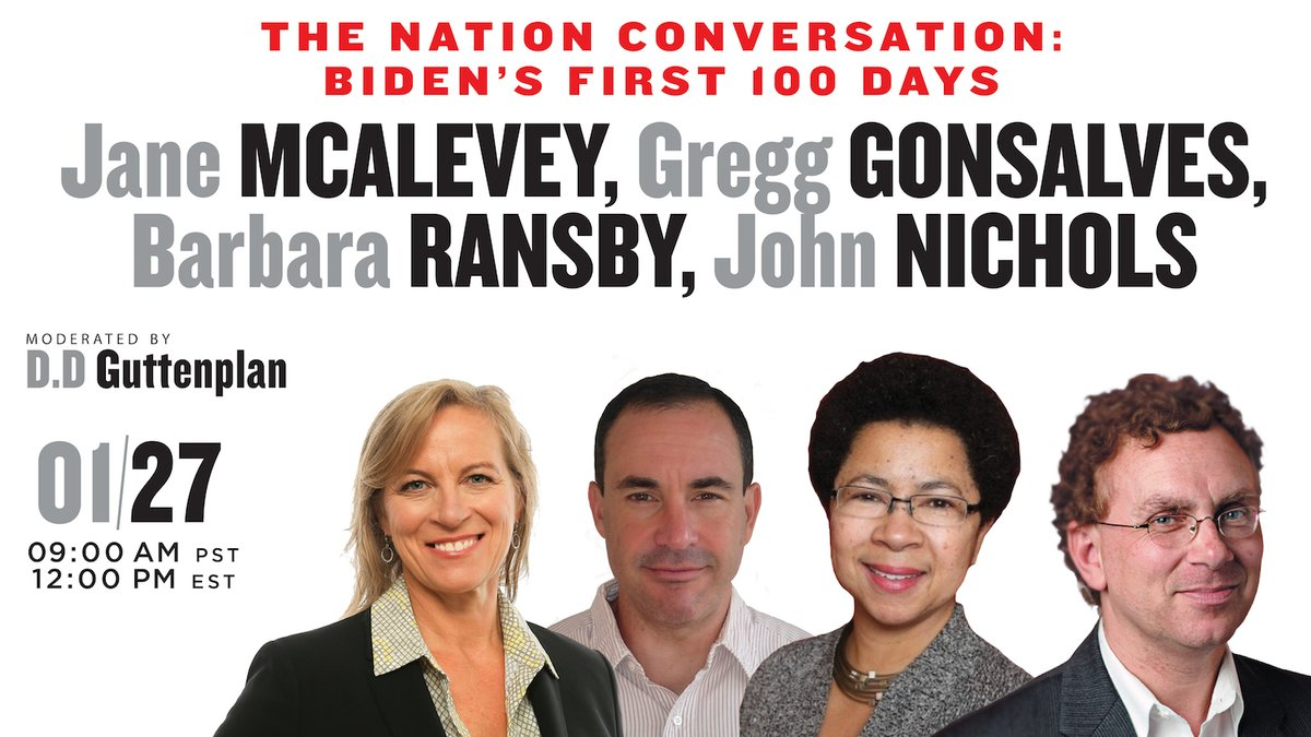 We've got another Nation Conversation coming up next week, with brilliant guests @gregggonsalves, @BarbaraRansby, @rsgexp, and @NicholsUprising. Get your tickets now!