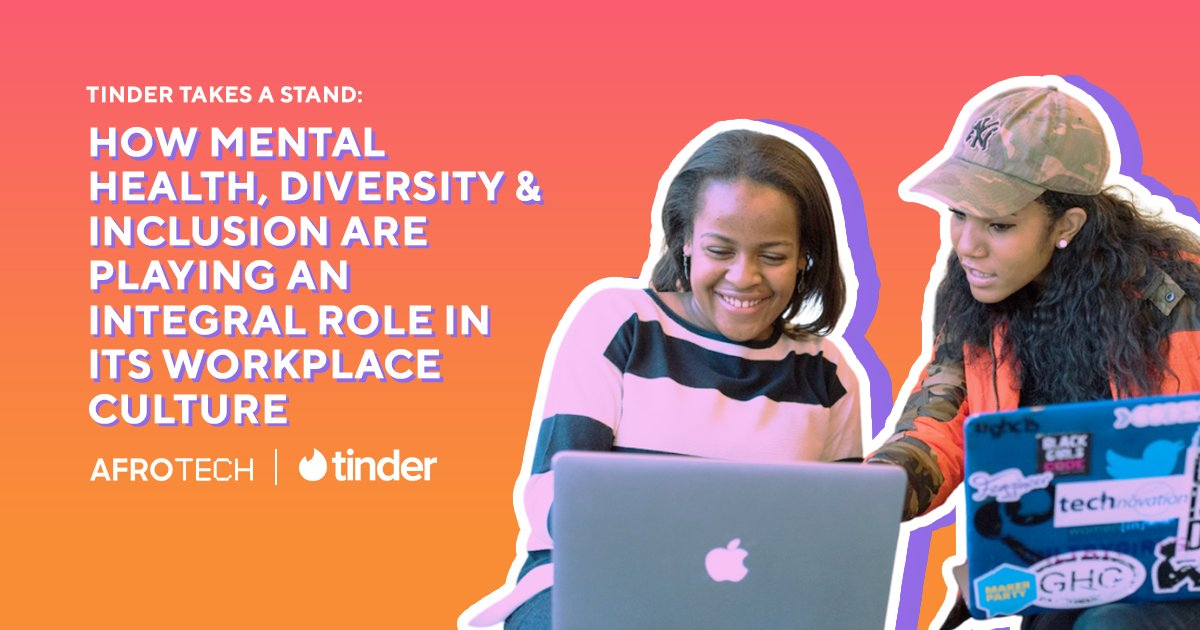 Forget what you think you know about working for a dating tech company 👨🏾💻❤️  and learn how mental health, anti-racism workshops, diversity and inclusion are the new norm @Tinder. #ad