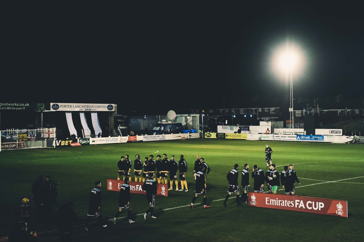Congratulations on a fantastic #FACup run, @chorleyfc 👏  Best of luck for the rest of the season.