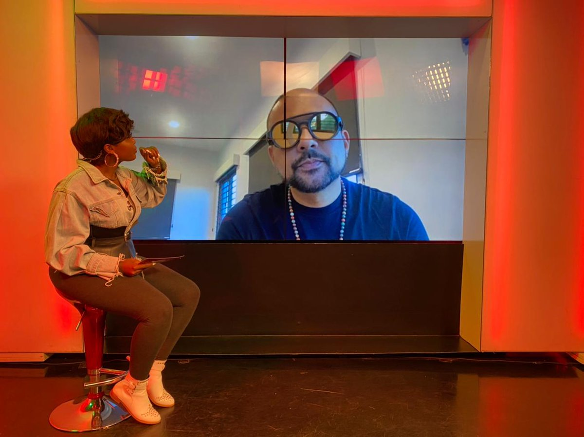 About the pandemic, @duttypaul says that it didn't stop him from putting out his music. He spent time in the studio doing his thing...making music.  #Sweetvybz @kush_tracey @MajailMc @deejaykalonje