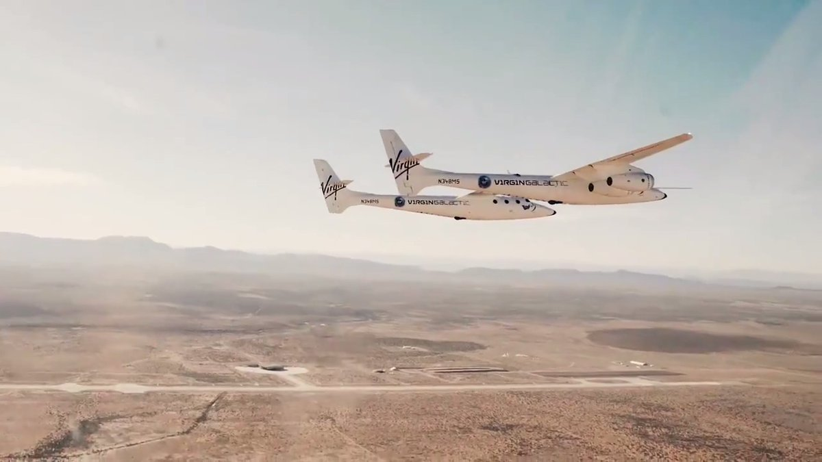 Highlights from this week's VMS Eve flights in New Mexico. During a spaceflight, VMS Eve acts as a mothership and carries SpaceShipTwo Unity to release altitude. These were routine flights for our pilots to complete regular proficiency checks.