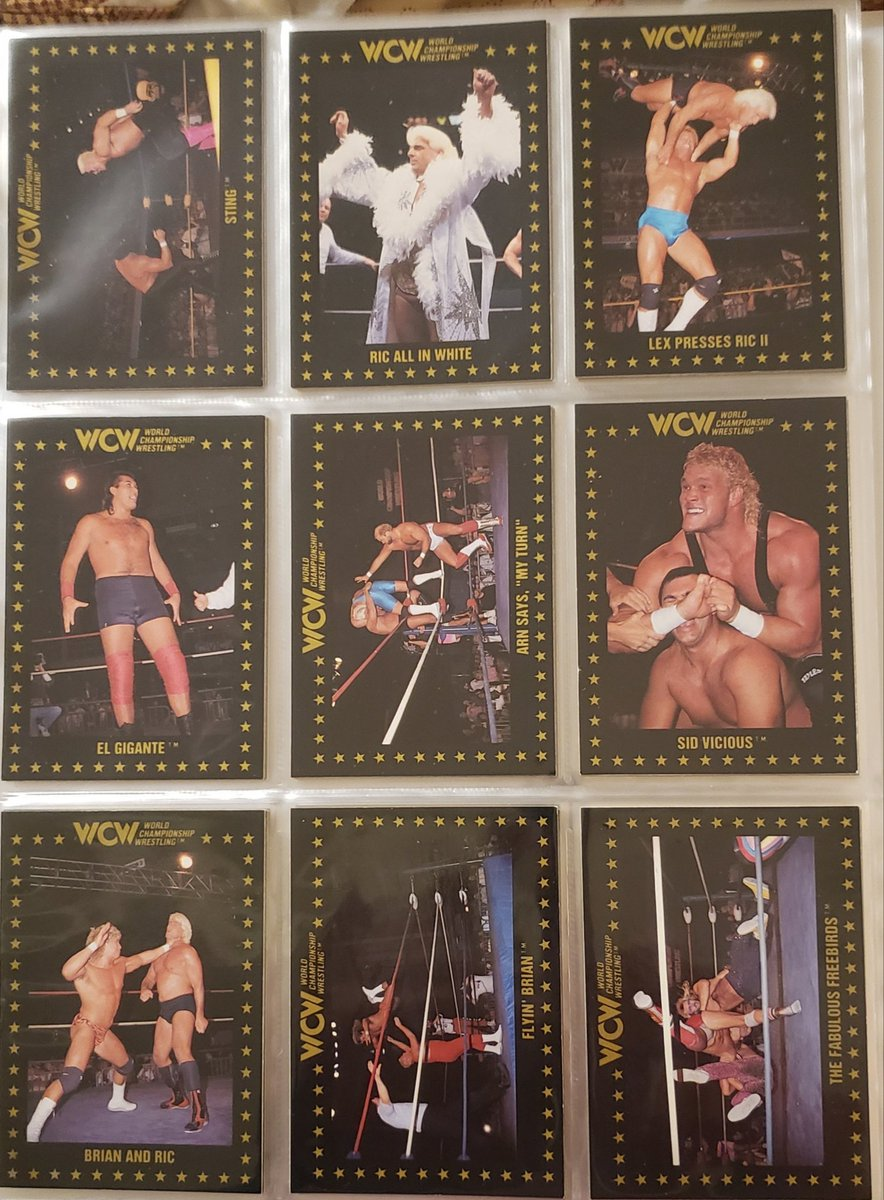 Some #WCW #wrestling cards for your #FridayFeeling #thehobby #collect