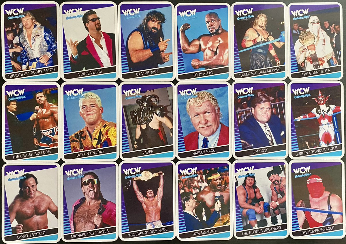 #MailDay: Received my custom WCW Saturday Night 2020 - 18 trading card set from @WrestlingArcade. Maybe worth mentioning it could be looked at as a 20th Anniversary set from the last WCW card release in 2000 🤔😏 #WCW #WrestlingTradingCards #tradingcards #collectorcards #thehobby