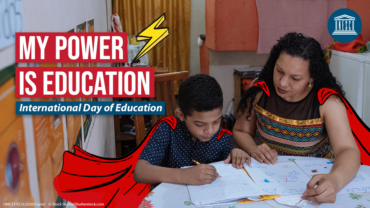 ✏️ Happy #EducationDay 📔 to all students, teachers, parents & other heroes around the world who are ensuring learning doesn't stop despite #COVID19.