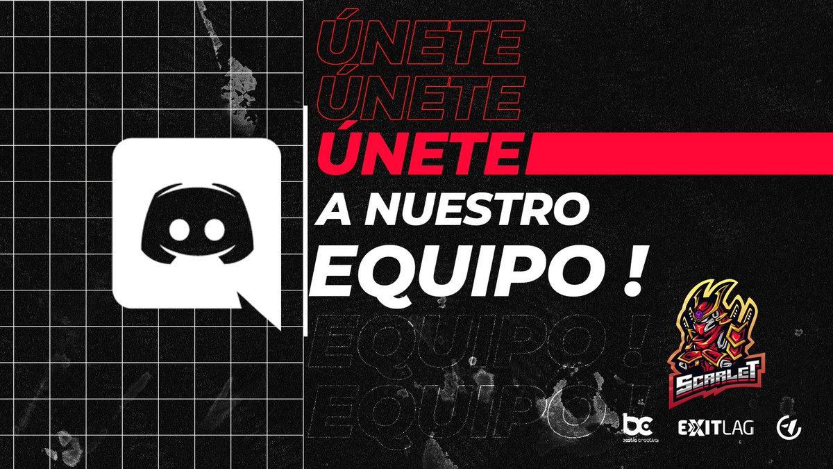 ¡SE PARTE DE SCARLET! 🔥 Así es, ahora contamos con discord de comunidad ! 🎊🤗   Te esperamos! ⚡⚡  #scarlet #scarletplayers #TeamScarlet #PoderScarlet #discord #discordserver #comunidad #únete #gamers #gaming