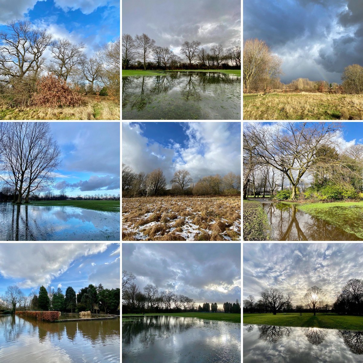 all #weather in one day today in @ryebankfields & @Longford_Park snow, sun and rain - #lockdown #exercise   #day18 #lockdown3 #wildlockdown #flooding #everyoneneedsnature #mindfulness #natureconnection #nature #therapy #outdoors #naturephotography #wellbeing #selfcare #staysafe