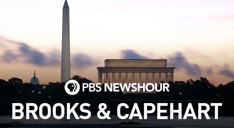 """If it's Friday it's """"Brooks & Capehart"""" on @NewsHour with @JudyWoodruff! Check your local listings...but 6pm on @marylandpubtv and 7pm on @wetatvfm. 😉"""