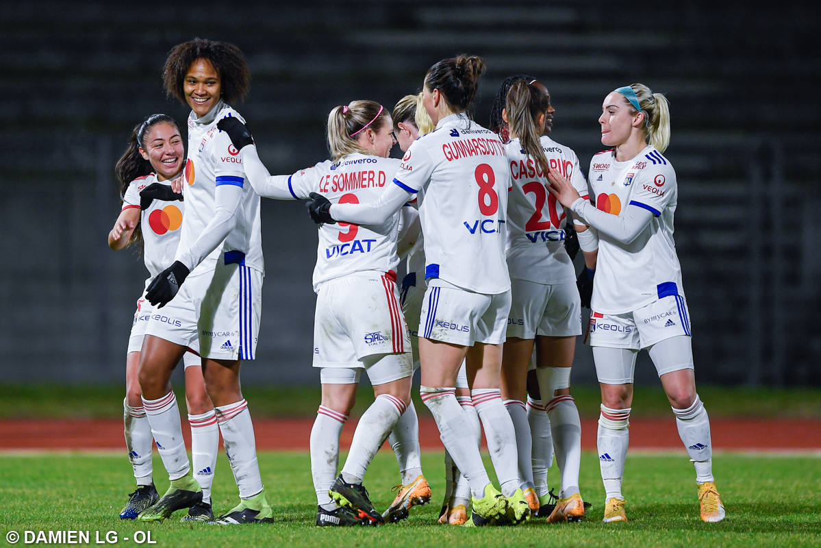 Replying to @OLfeminin: Retour en photos sur notre victoire face au Paris FC (5-0) !   👉